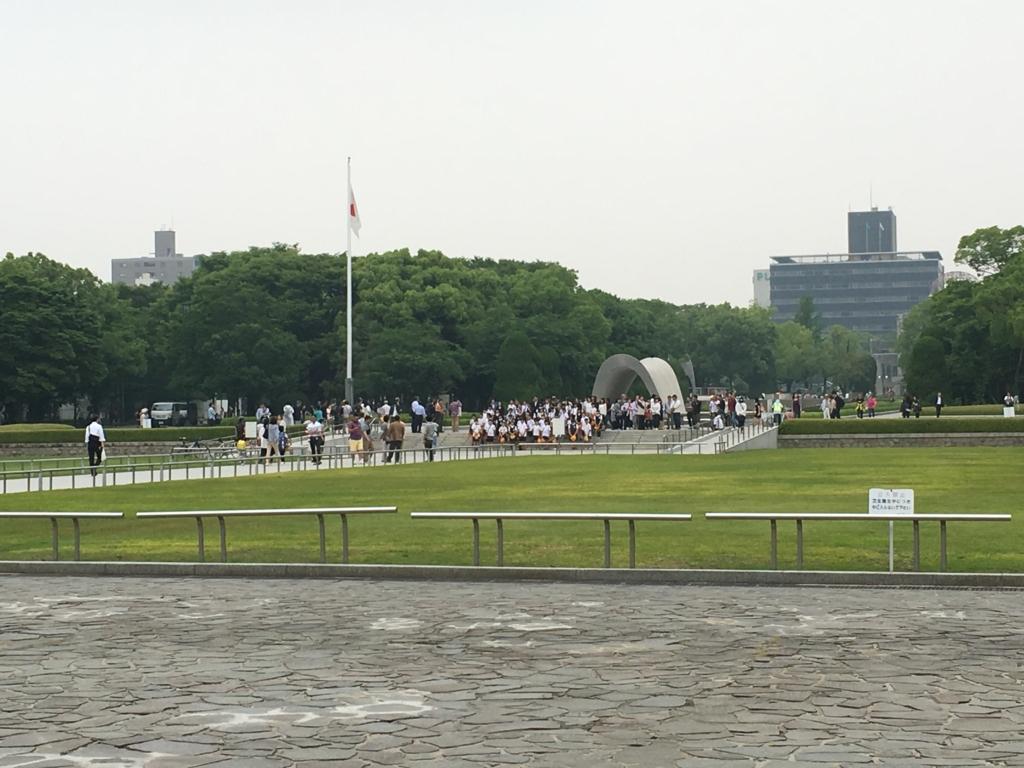 広島平和記念公園 オバマ大統領 訪問翌日