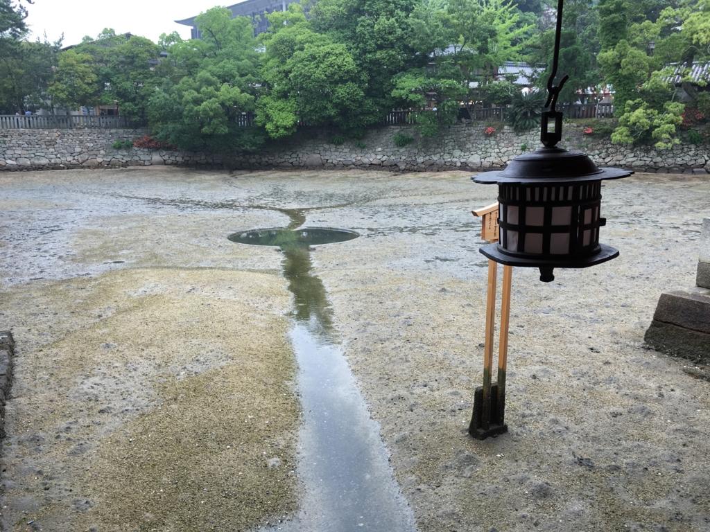 厳島神社 鏡の池