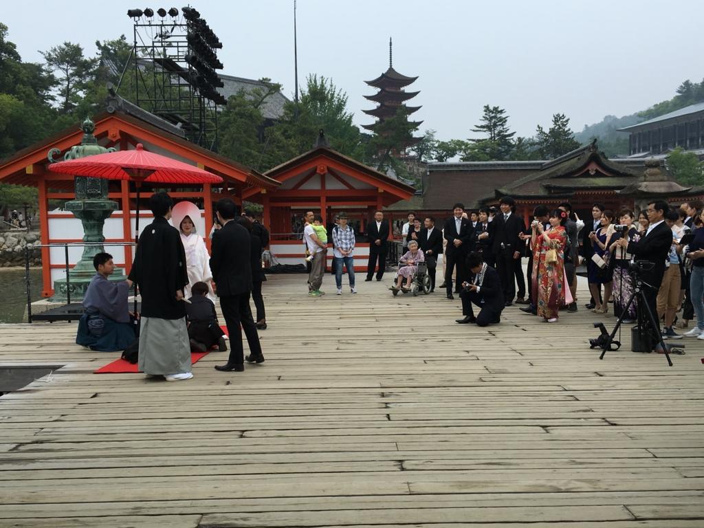 厳島神社 花嫁さん