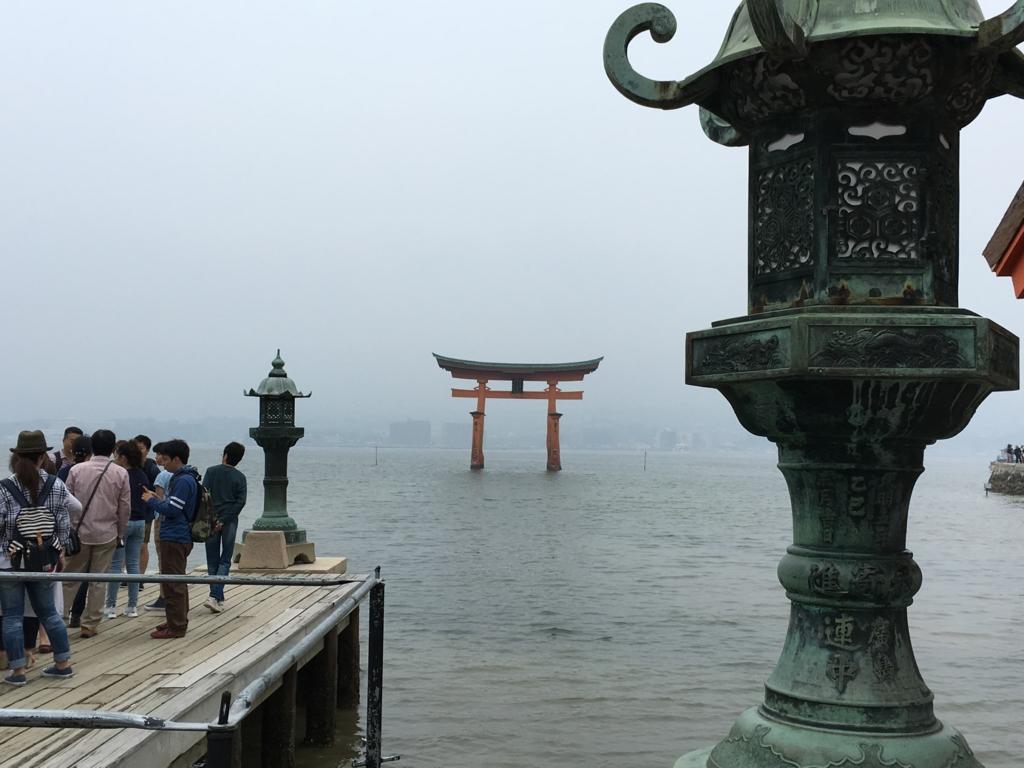 厳島神社 舞台付近 撮影スポット