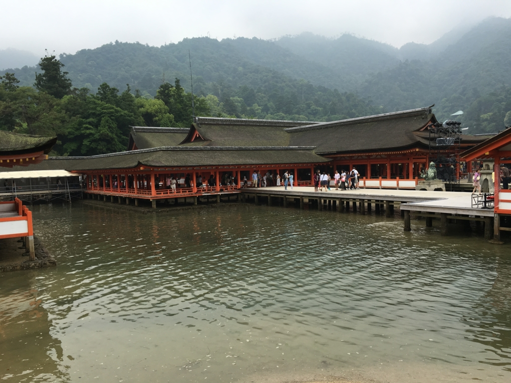 厳島神社 東回廊 潮位小 満潮約20分前