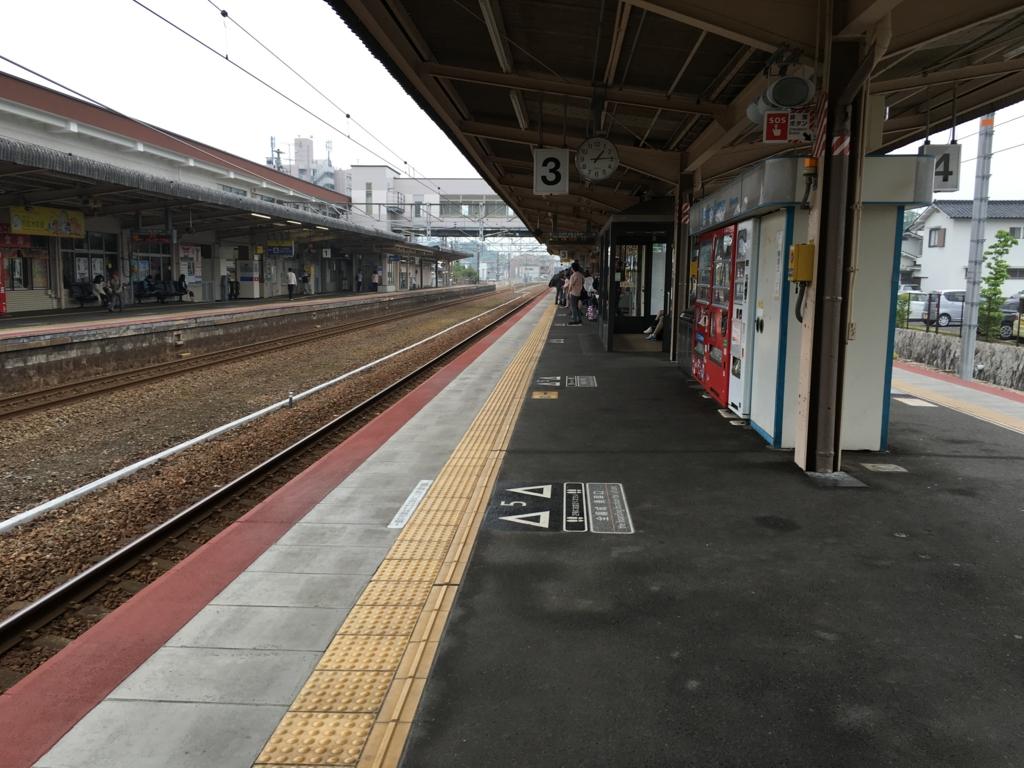 山陽本線 宮島口駅 広島行きホーム