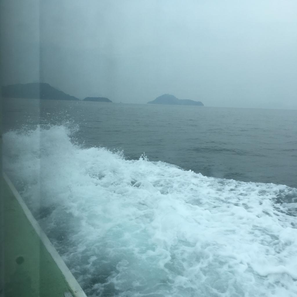 忠海港 休暇村客船 乗船中