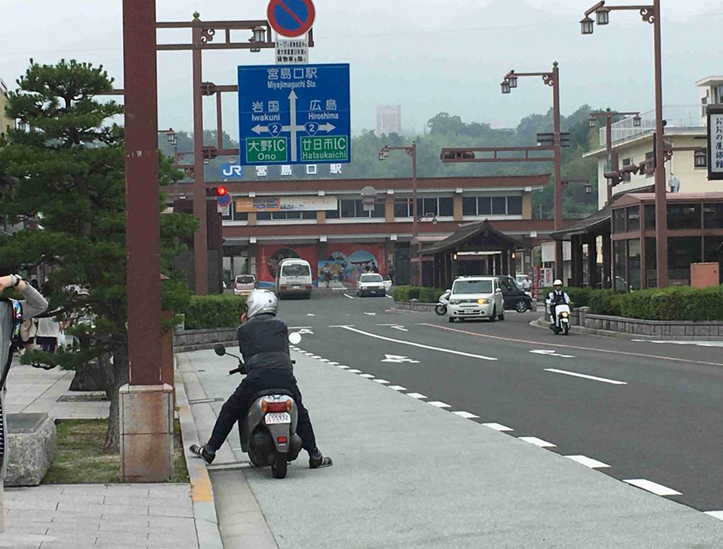 JR宮島口駅 フェリー乗り場からの道