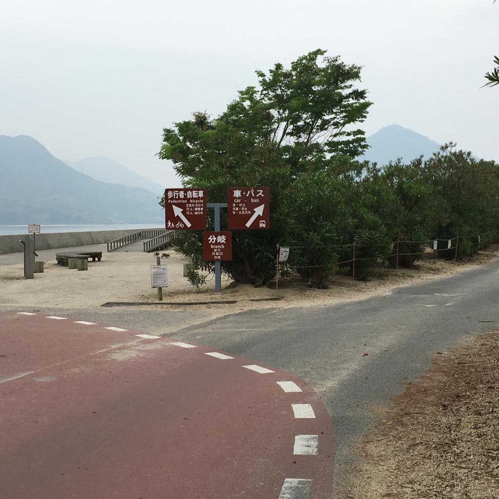 大久野島 ウサギ島 第2桟橋より キャンプ場へ