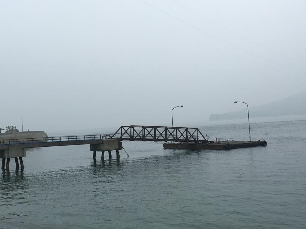 2回目のうさぎ島 大久野島 朝の第1桟橋