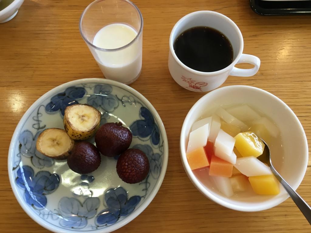 2回目のうさぎ島 「休暇村 大久野島」2日目 朝食バイキング デザート