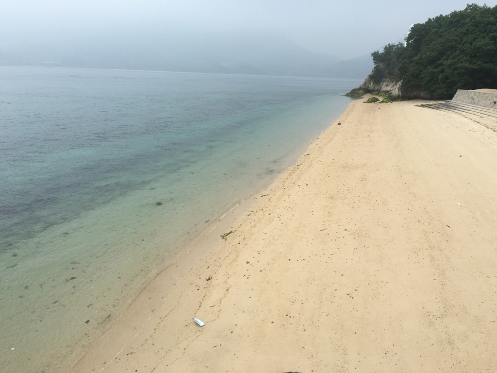 2回目のうさぎ島 大久野島 海水浴場 海岸