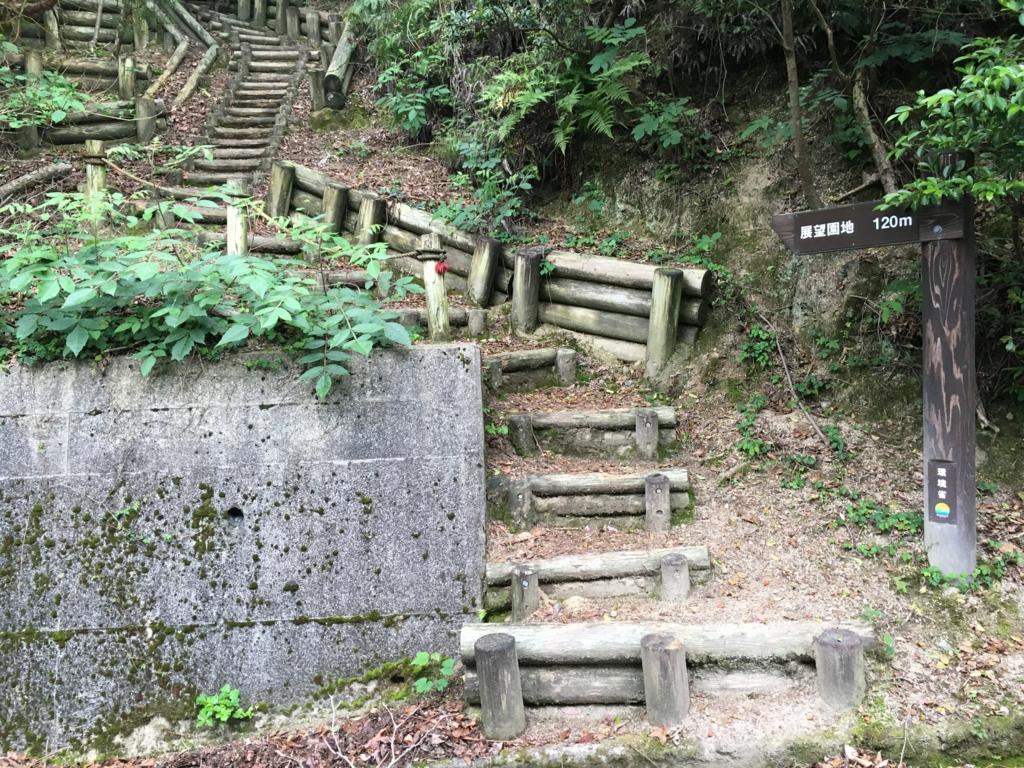 2回目のうさぎ島 大久野島 展望台へ やっぱり階段