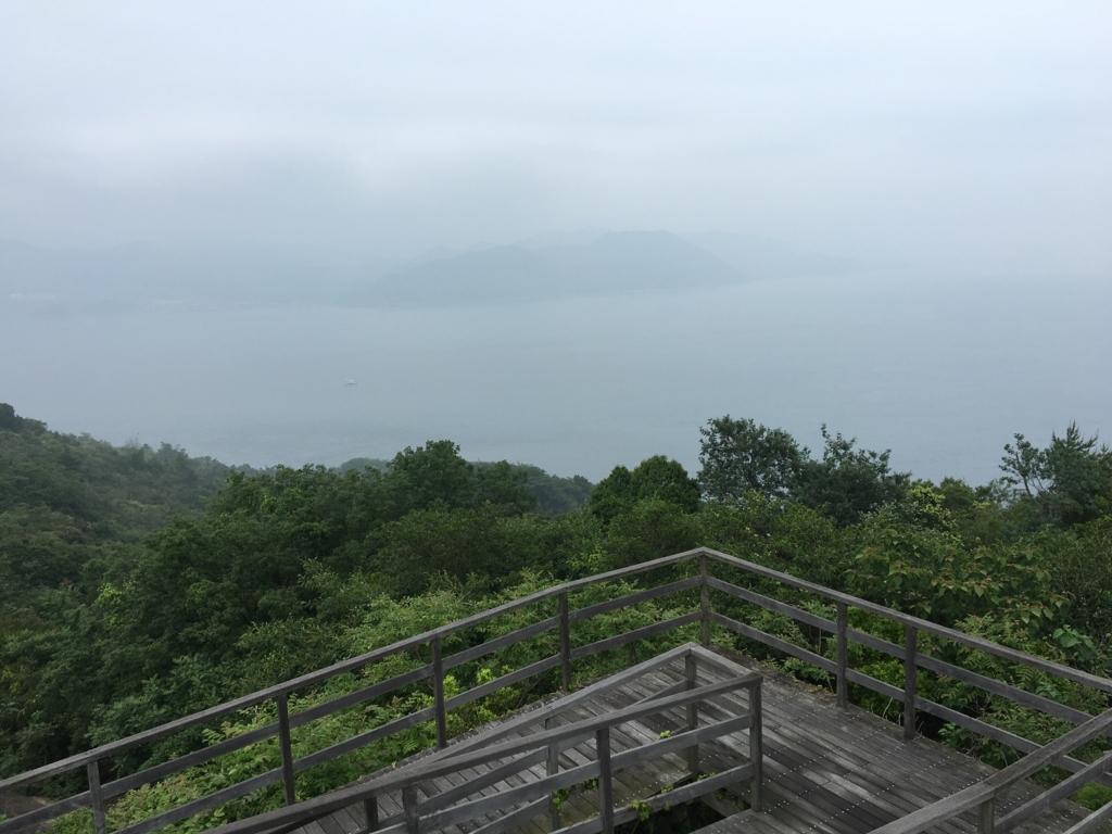 2回目のうさぎ島 大久野島 展望台からの風景