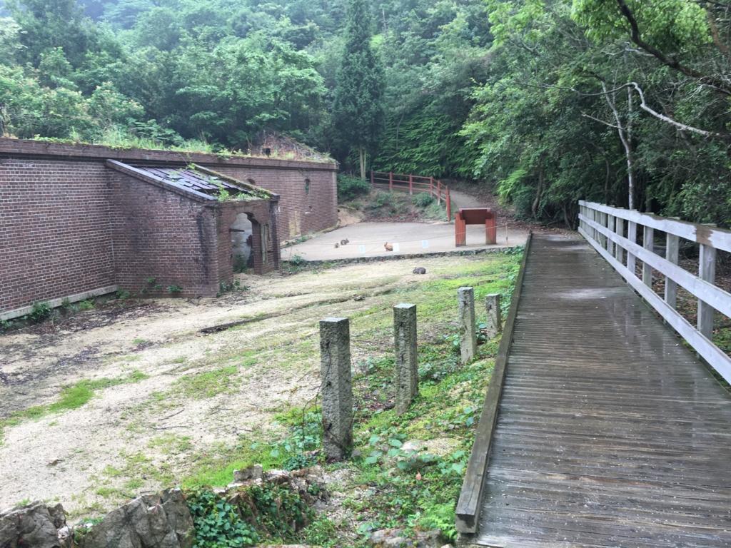 2回目のうさぎ島 大久野島 雨降りの火薬庫跡