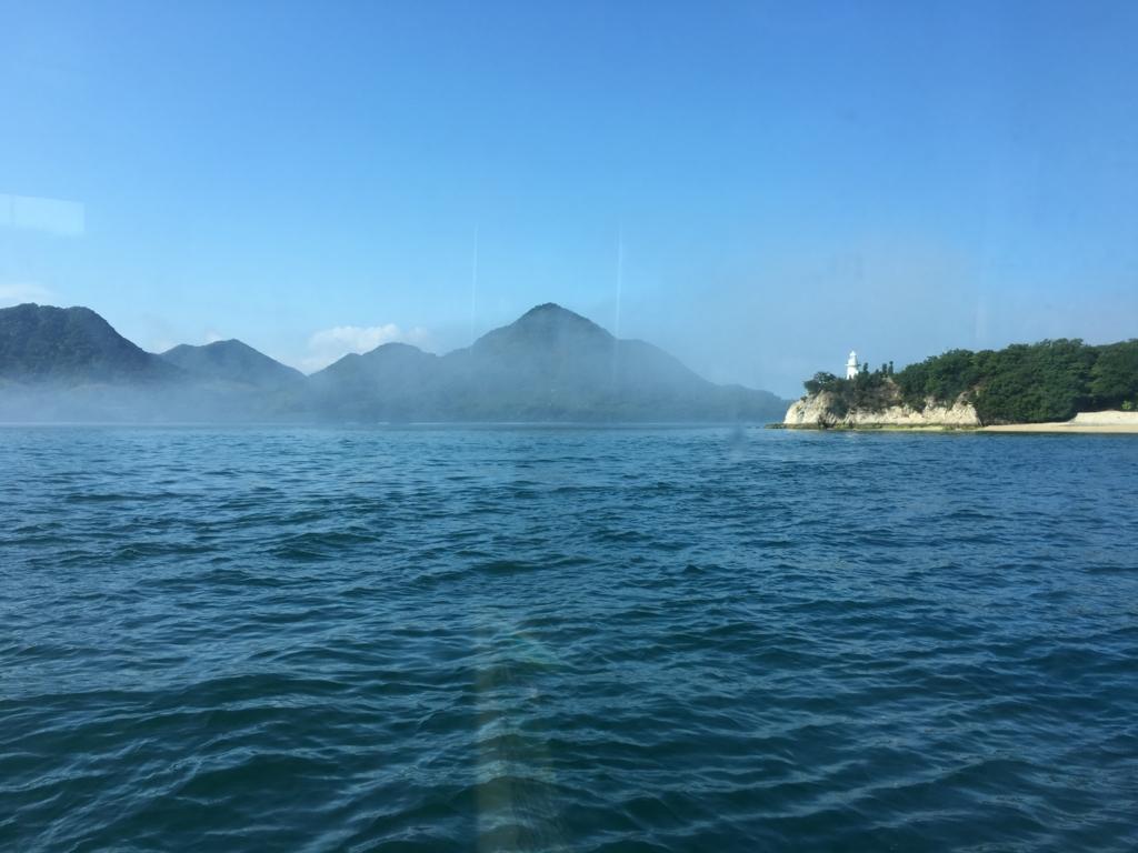2回目のうさぎ島 大久野島 出航 灯台