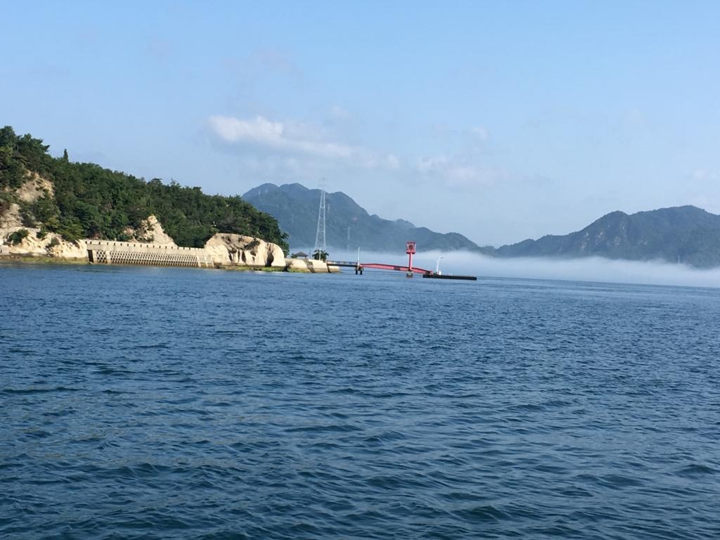 2回目のうさぎ島 休暇村大久野島 客船より 第2桟橋