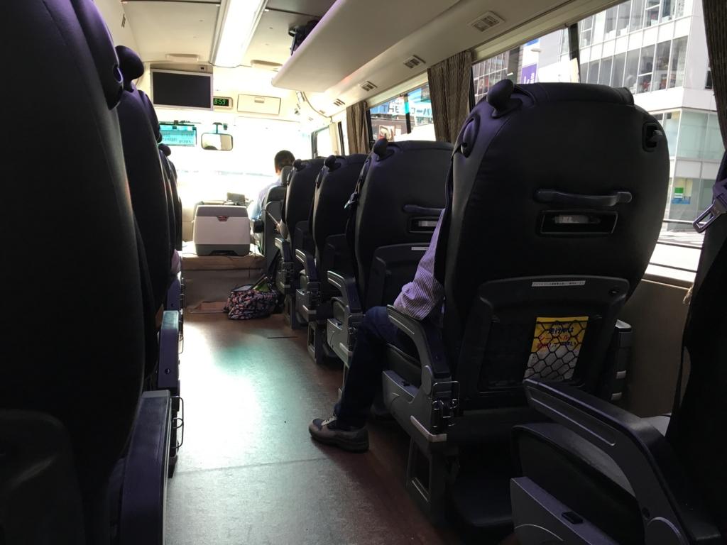 本革張りVIPバスで行く『星野リゾート界 日光』VIPバス 車内