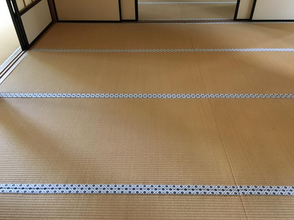 日光田母沢御用邸 畳の絹織物の縁