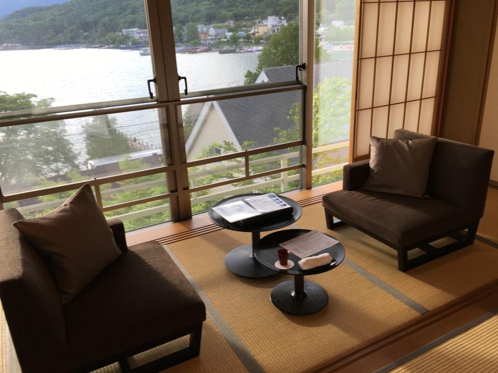 「星野リゾート界 日光」客室より 中禅寺湖