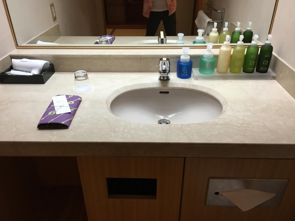 「星野リゾート界 日光」客室 洗面所