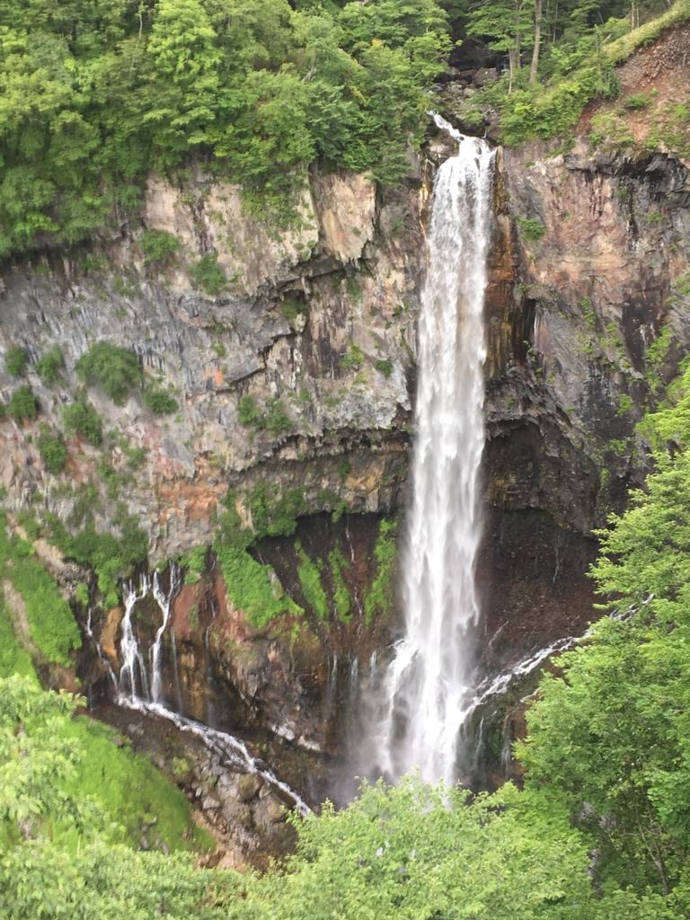 「華厳の滝」展望台からの風景