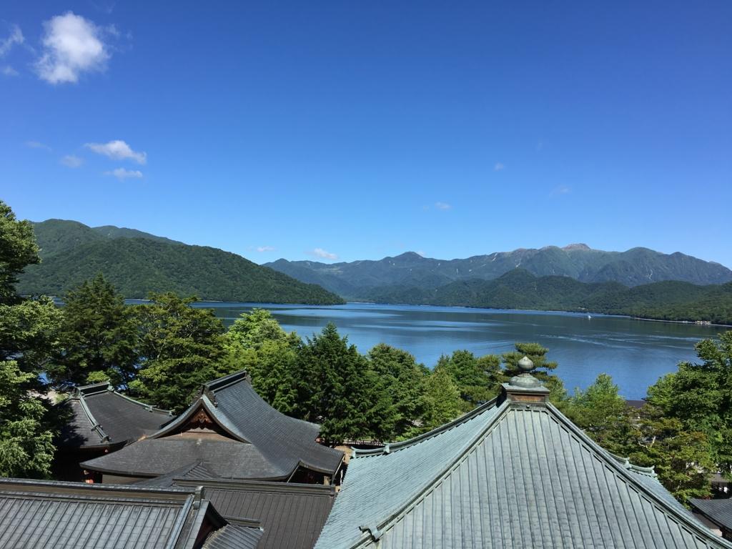 中禅寺 からの 中禅寺湖