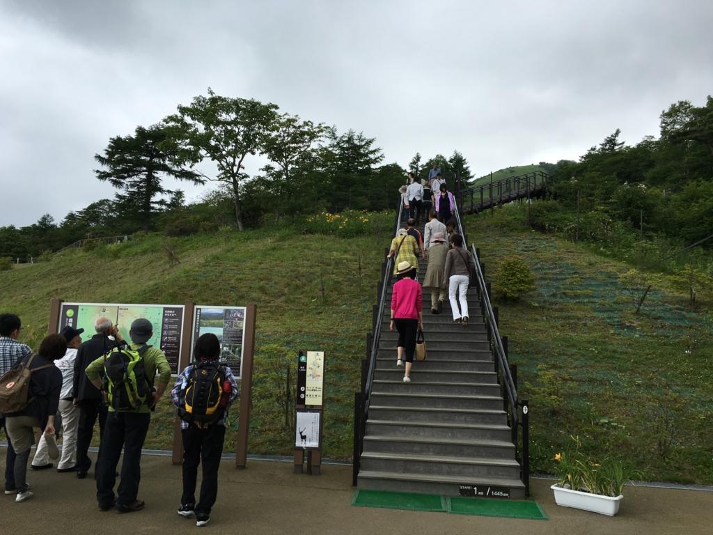 「霧降高原」遊歩道 入り口