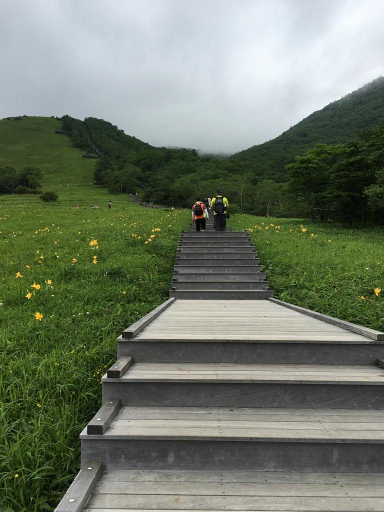 「霧降高原」遊歩道
