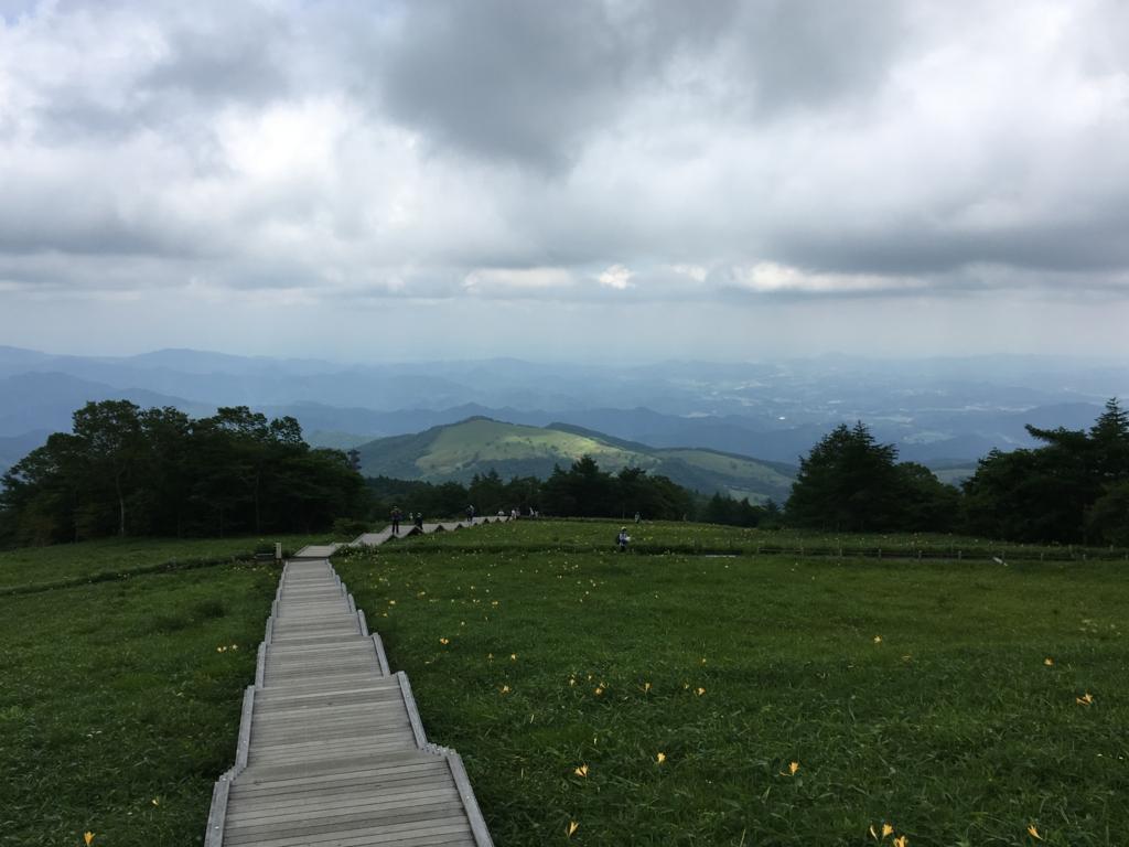 「霧降高原」遊歩道 「J」よりの景色
