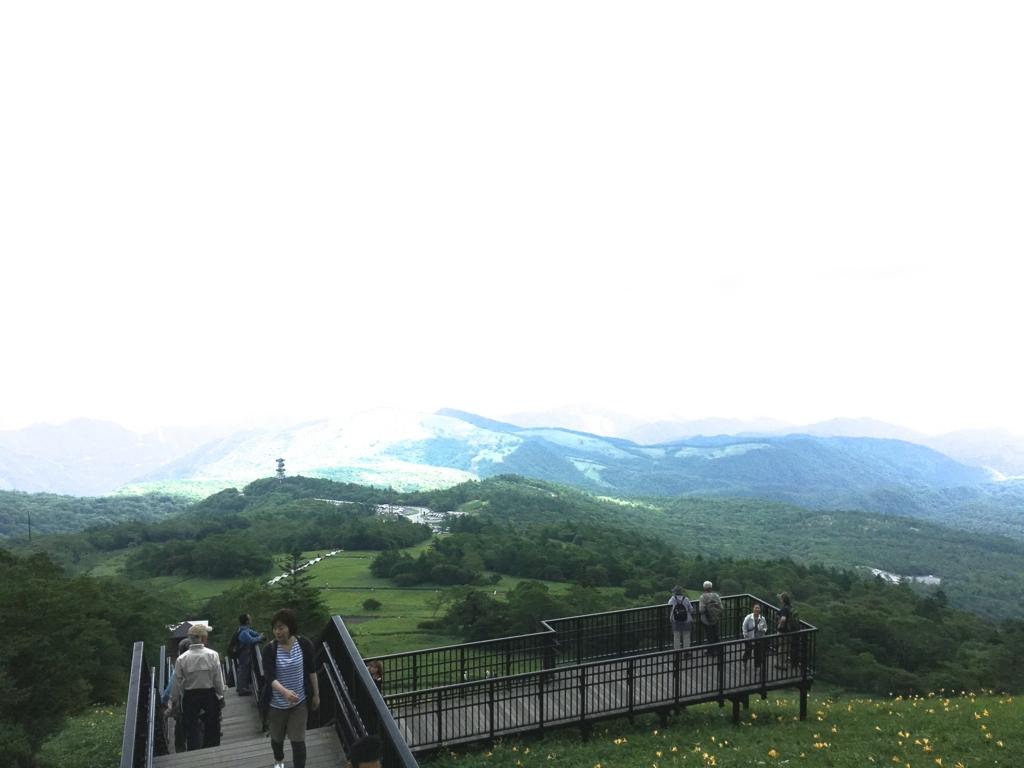 「霧降高原」天空回廊 「O」展望デッキ からの展望風景