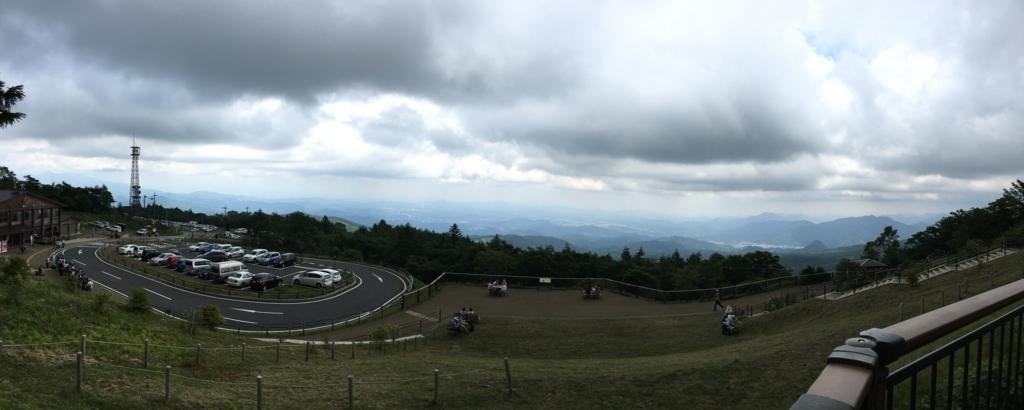 「霧降高原」バリアフリーコース 展望広場からの パノラマ