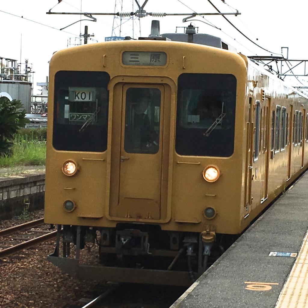 呉線 三原行き 忠海駅到着