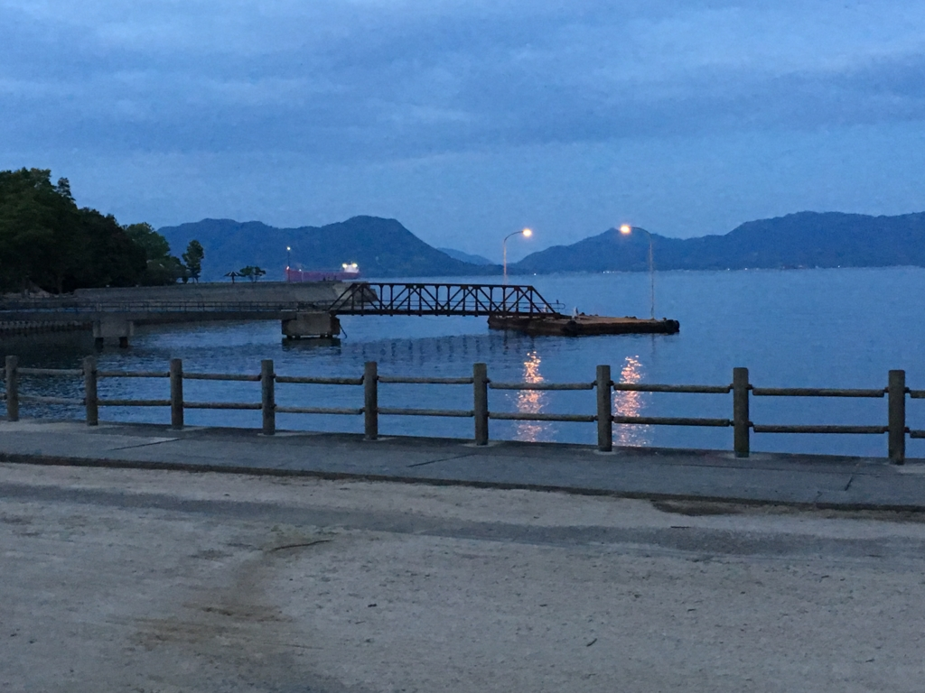 うさぎ島(大久野島)夜の第1桟橋