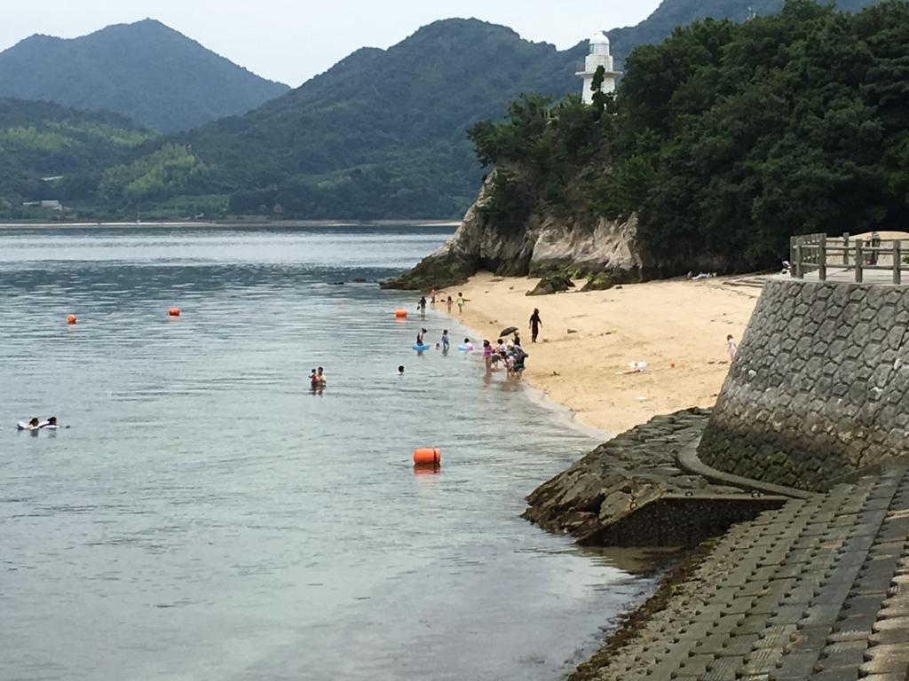 うさぎ島(大久野島)海開き後 海水浴場