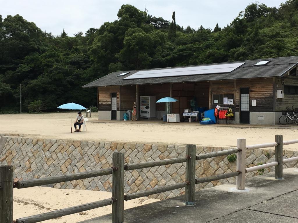 うさぎ島(大久野島)海水浴場 海の家