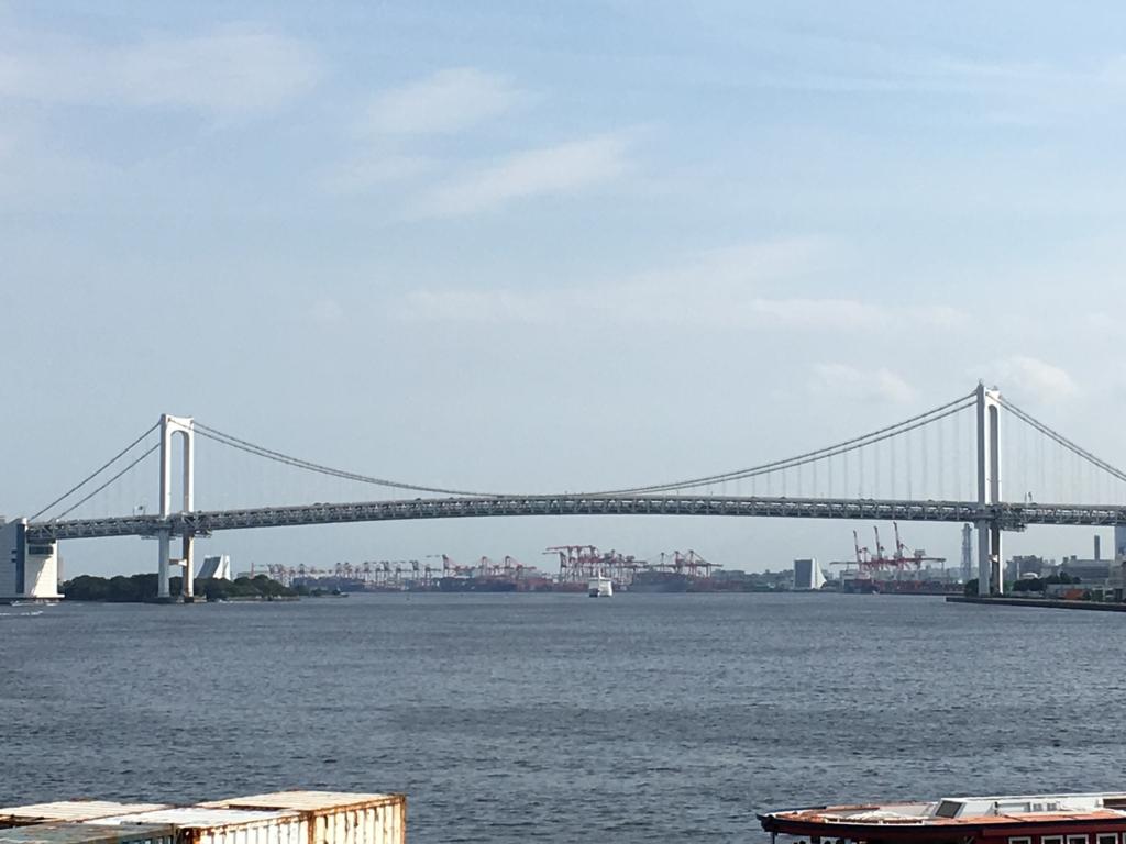竹芝桟橋 2階 海の見える公園?