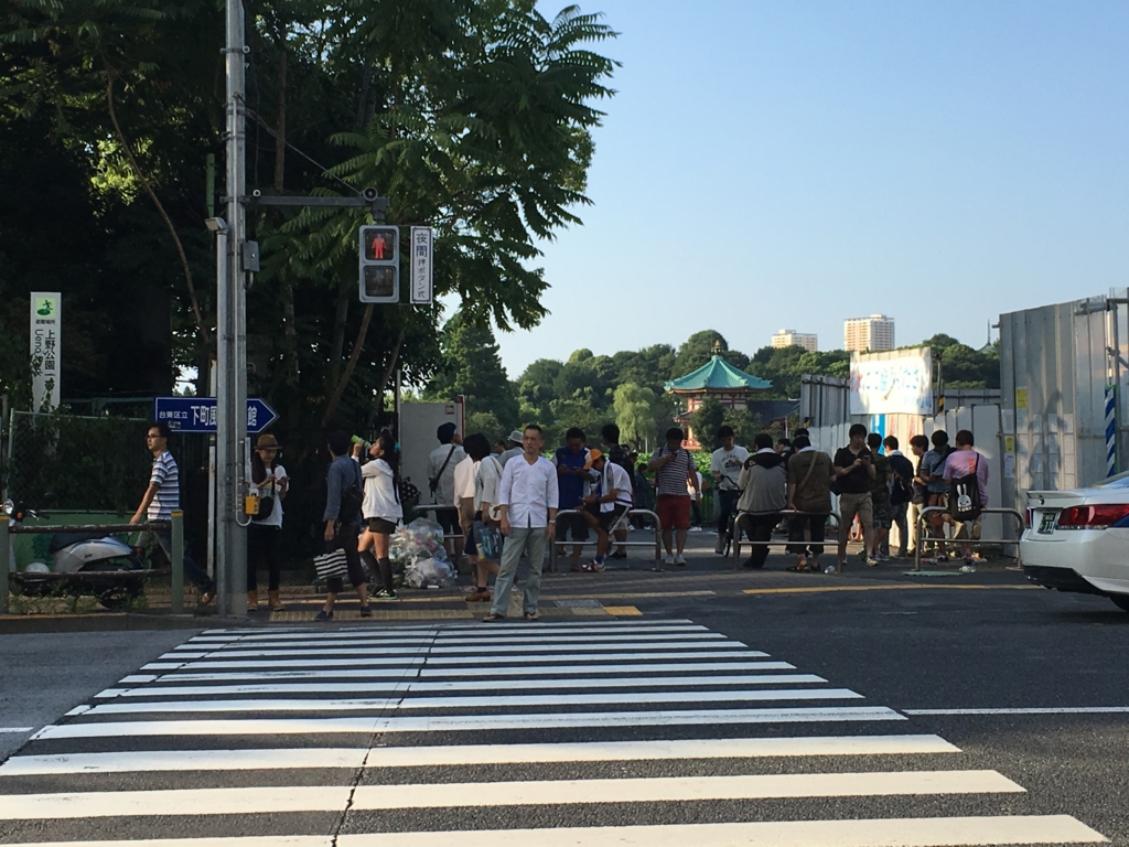 上野不忍池への横断歩道