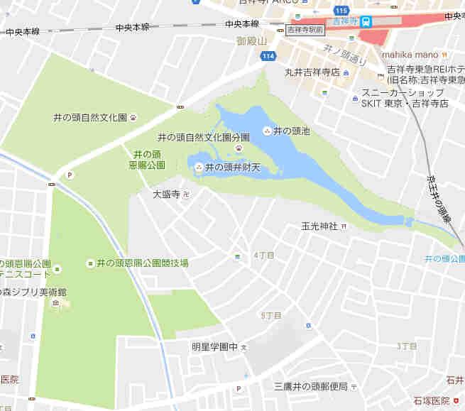 「井の頭公園」地図