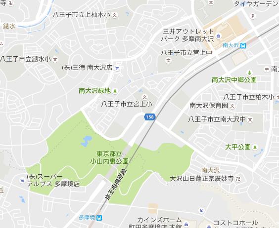「小山内裏公園」地図