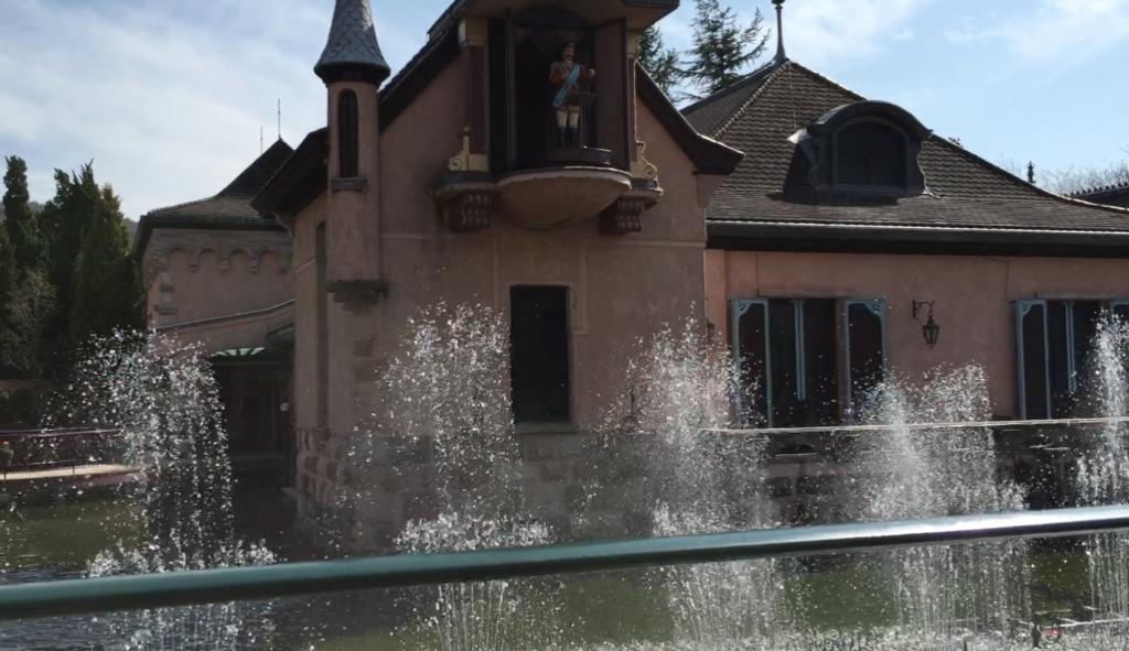 「河口湖オルゴールの森」庭 噴水ショー