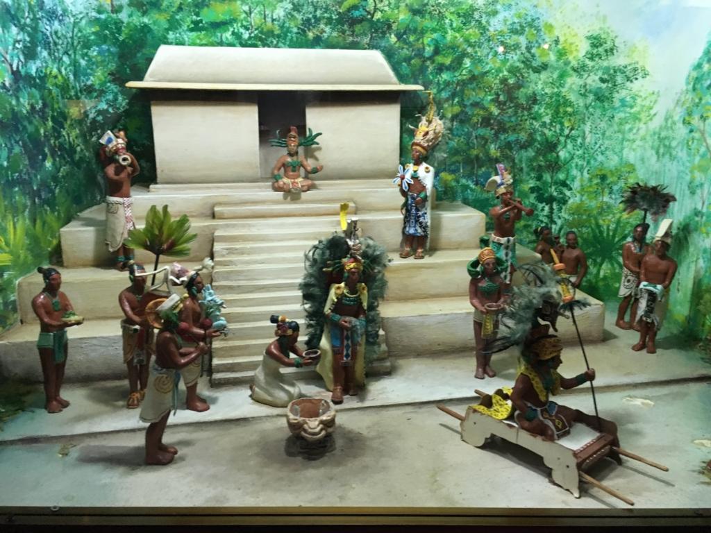 「グアテマラ考古学民俗学博物館」生活を再現したジオラマ