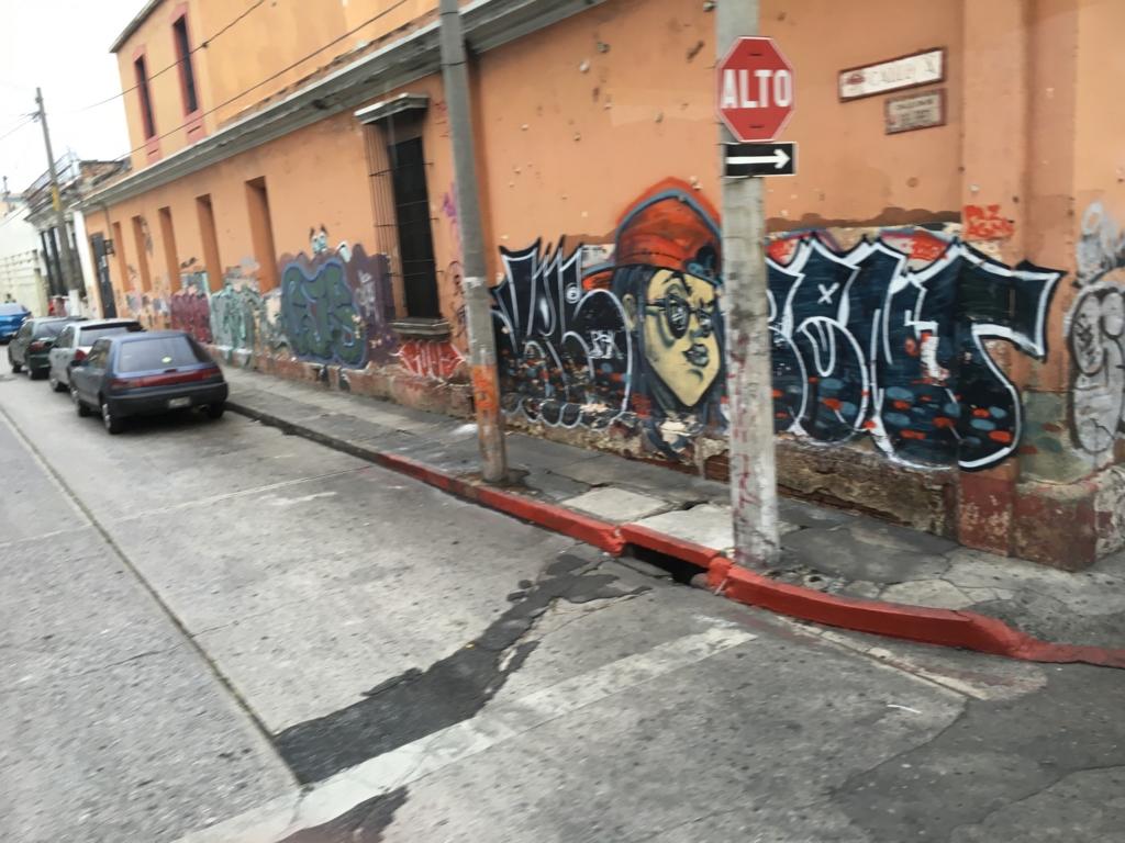 グアテマラシティ市内 落書き