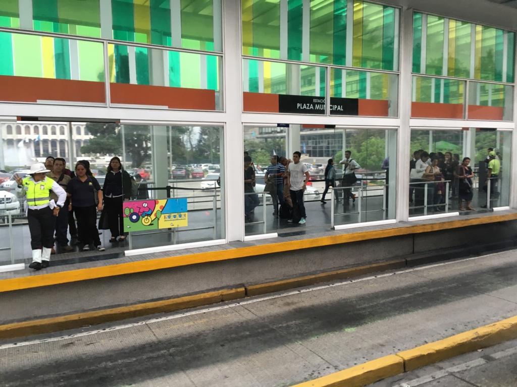 グアテマラシティ市内 連結バス 駅?