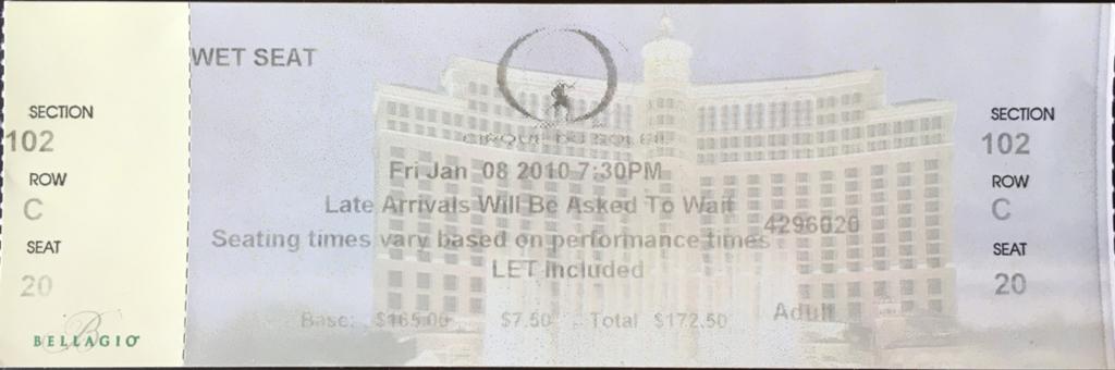 ラスベガス O(オー)チケット