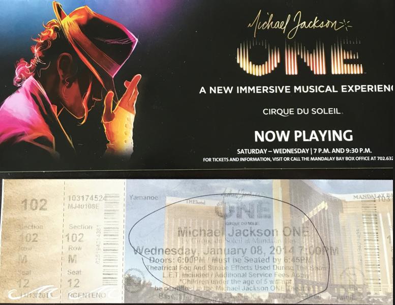 ラスベガス Michael Jackson: One チケット