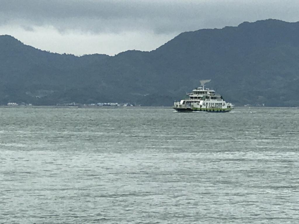 うさぎ島(大久野島)忠海行きフェリー到着