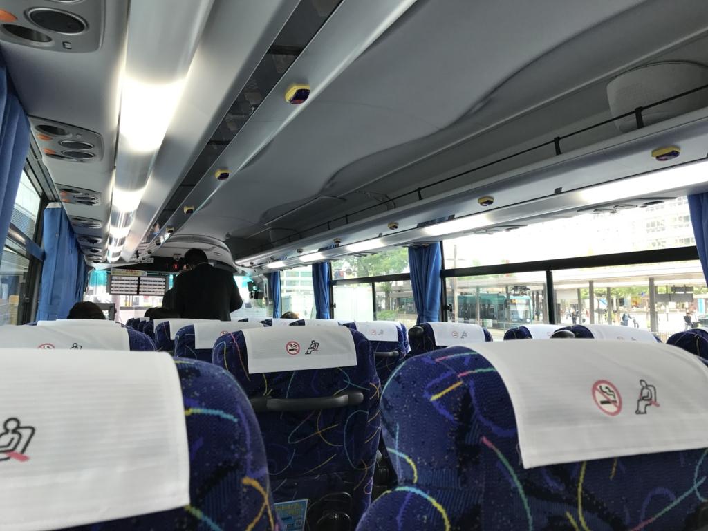 忠海駅-広島バスセンター かぐや姫号 広島駅到着