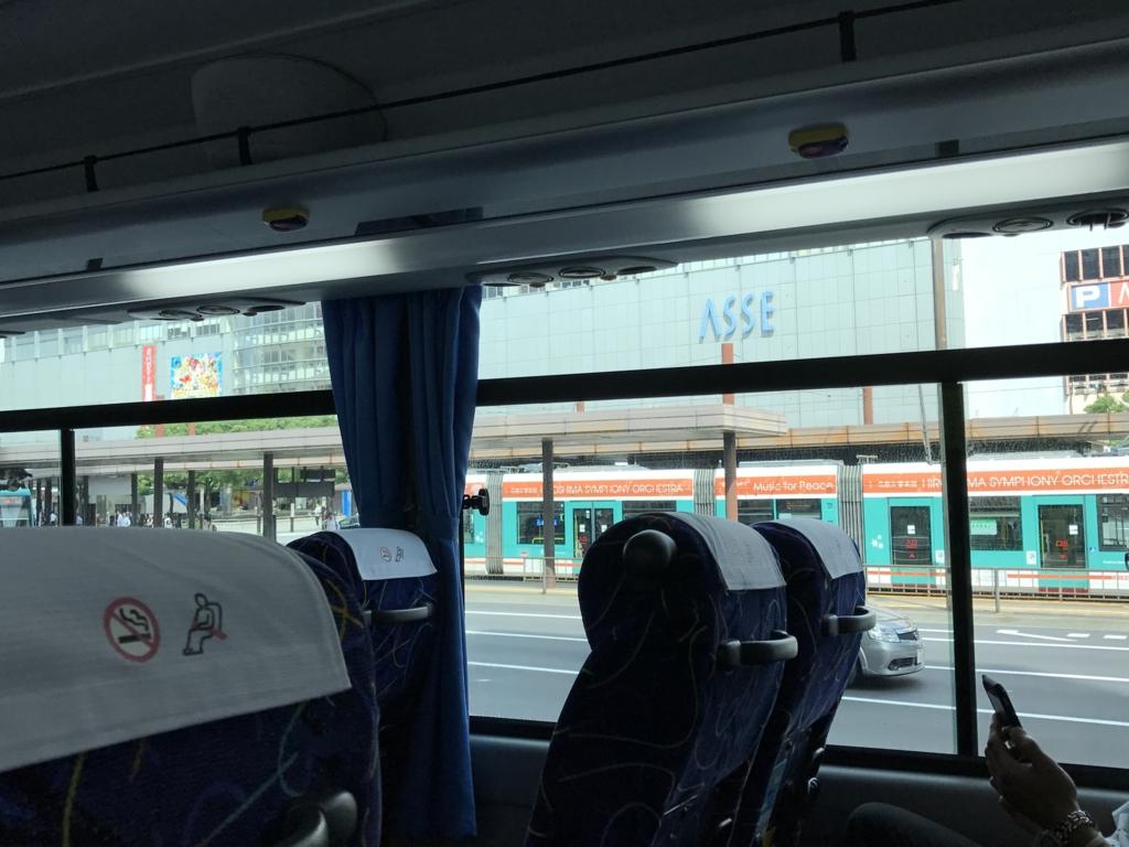 忠海駅-広島バスセンター かぐや姫号 車内