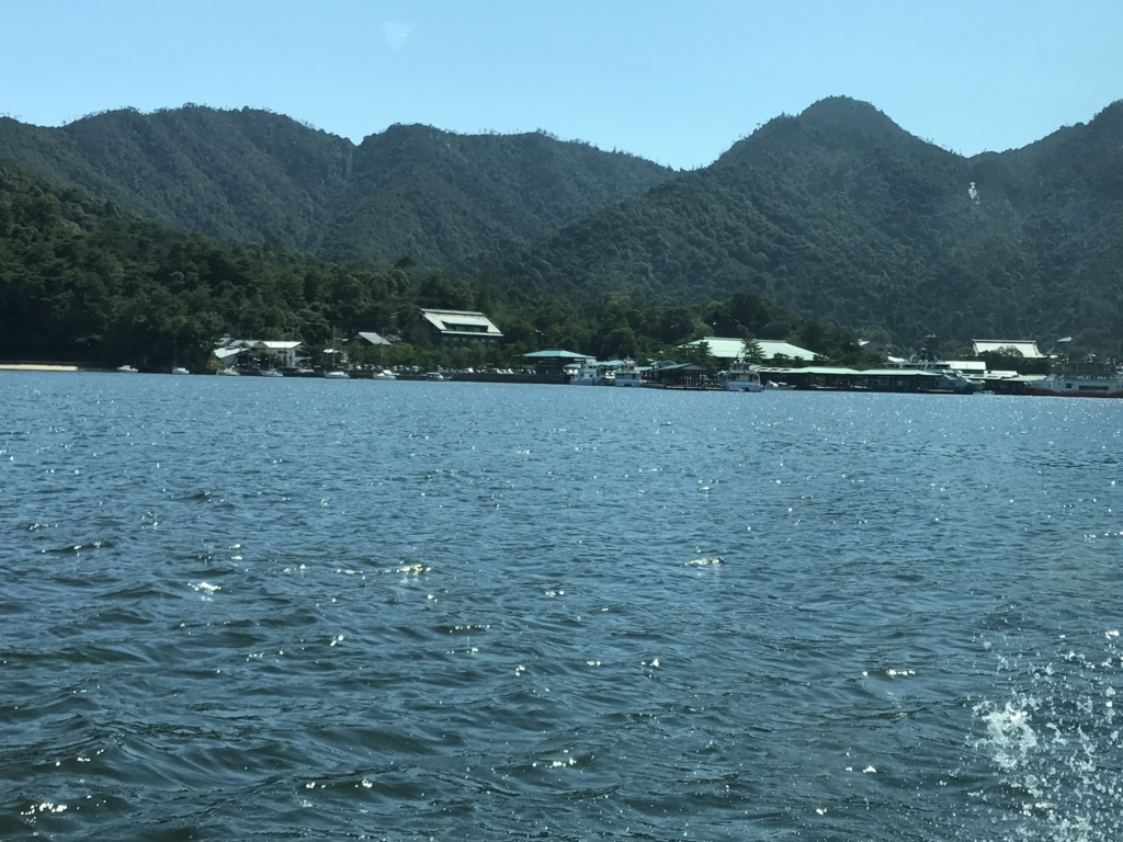 平和公園-宮島 高速船内 宮島到着