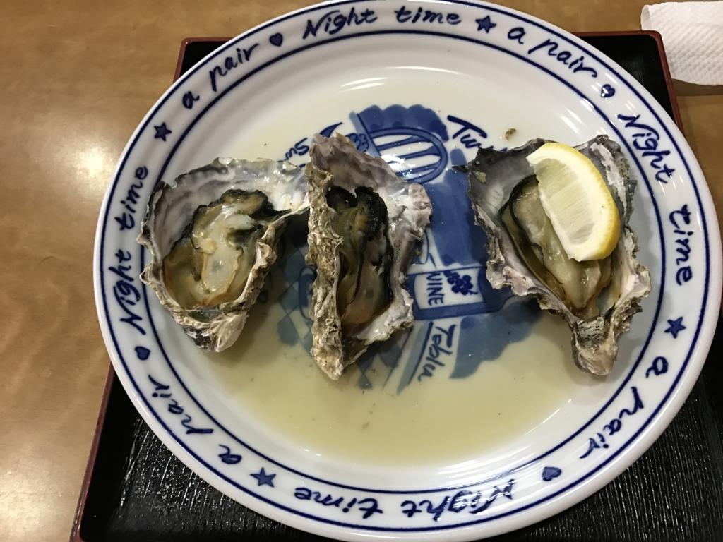 宮島 「花菱」 焼き牡蠣 3個