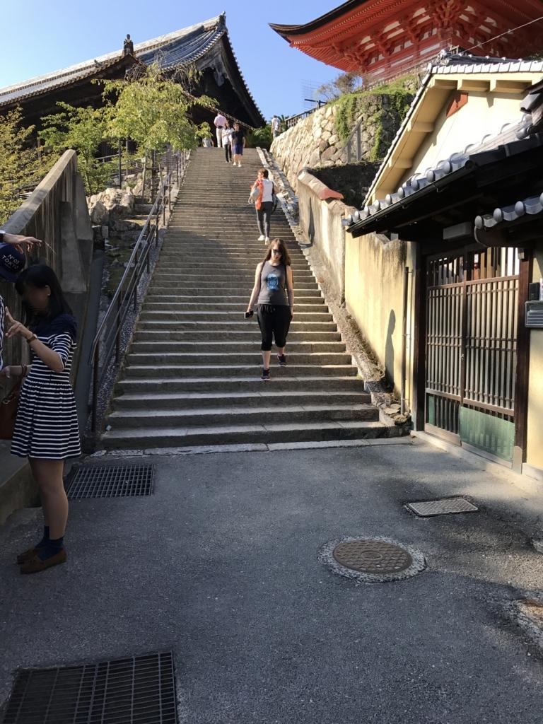 宮島 豊国神社(五重塔、千畳閣)への階段