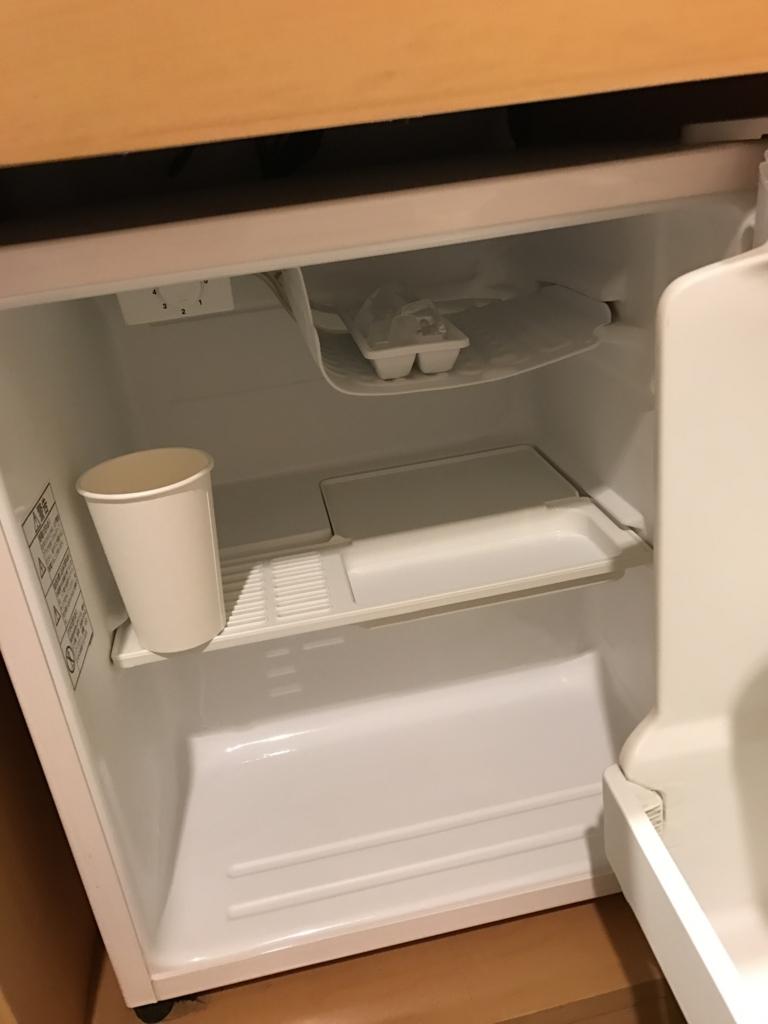「出雲グリーンホテルモーリス」部屋の冷蔵庫