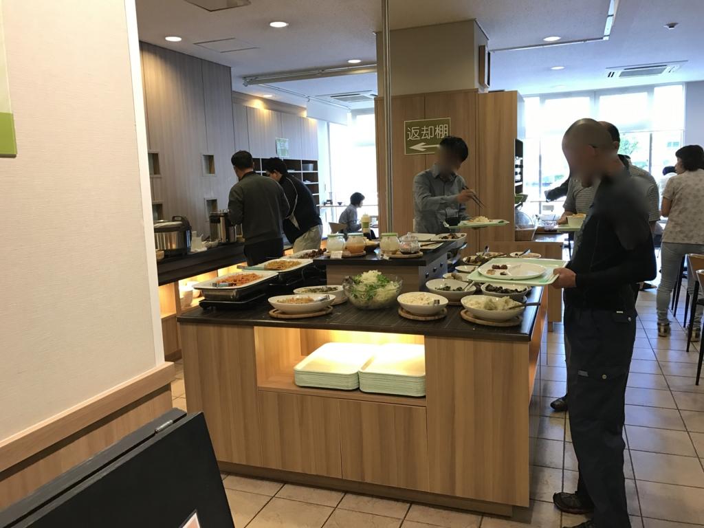 「出雲グリーンホテルモーリス」朝食バイキング 風景
